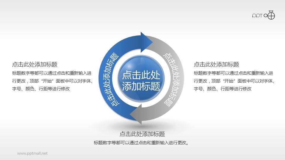 2部分并列关系循环图PPT模板