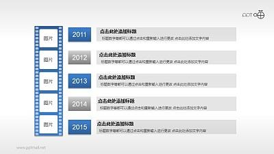 公司发展历程时间轴PPT