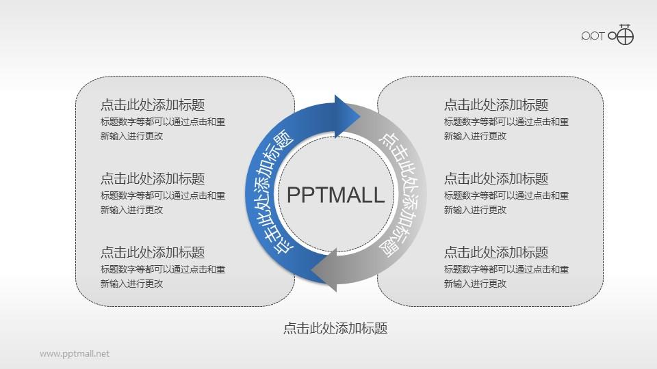 2部分循环关系PPT模板