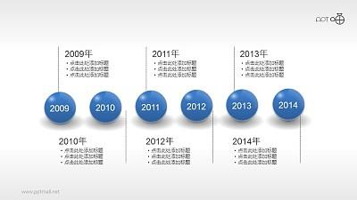 3D小球时间点/轴PPT素材