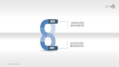 """""""8""""要素循环逻辑图PPT素材"""