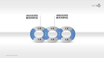 6部分并列循环关系PPT素材