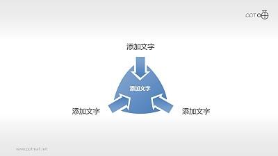 3个朝向中心的箭头Powerpoint下载