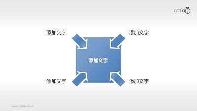 四部分总分关系PPT素材