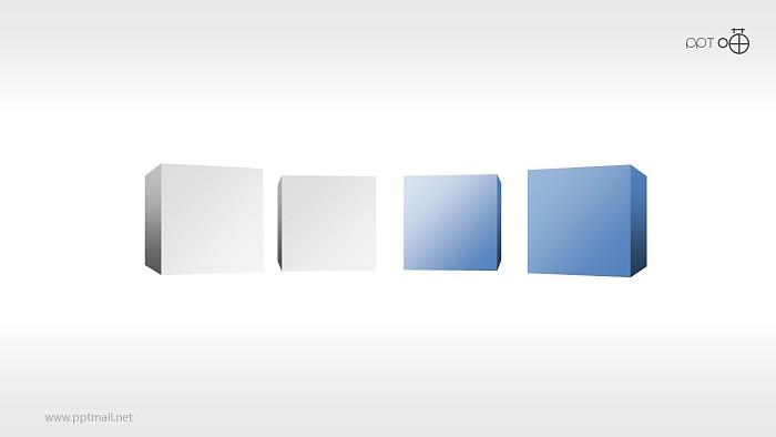 3D方块并列关系ppt下载_幻灯片预览图1