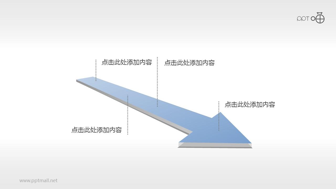 微立体箭头PPT时间轴