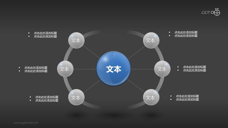 超商务3D质感总分关系PPT素材