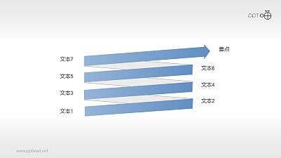 扁平化螺旋箭头关系PPT素材