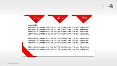 一张标有多个百分比值的信纸PPT素材