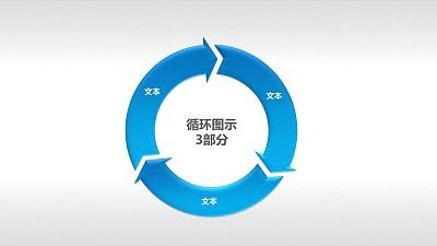 循环图示3部分PPT下载