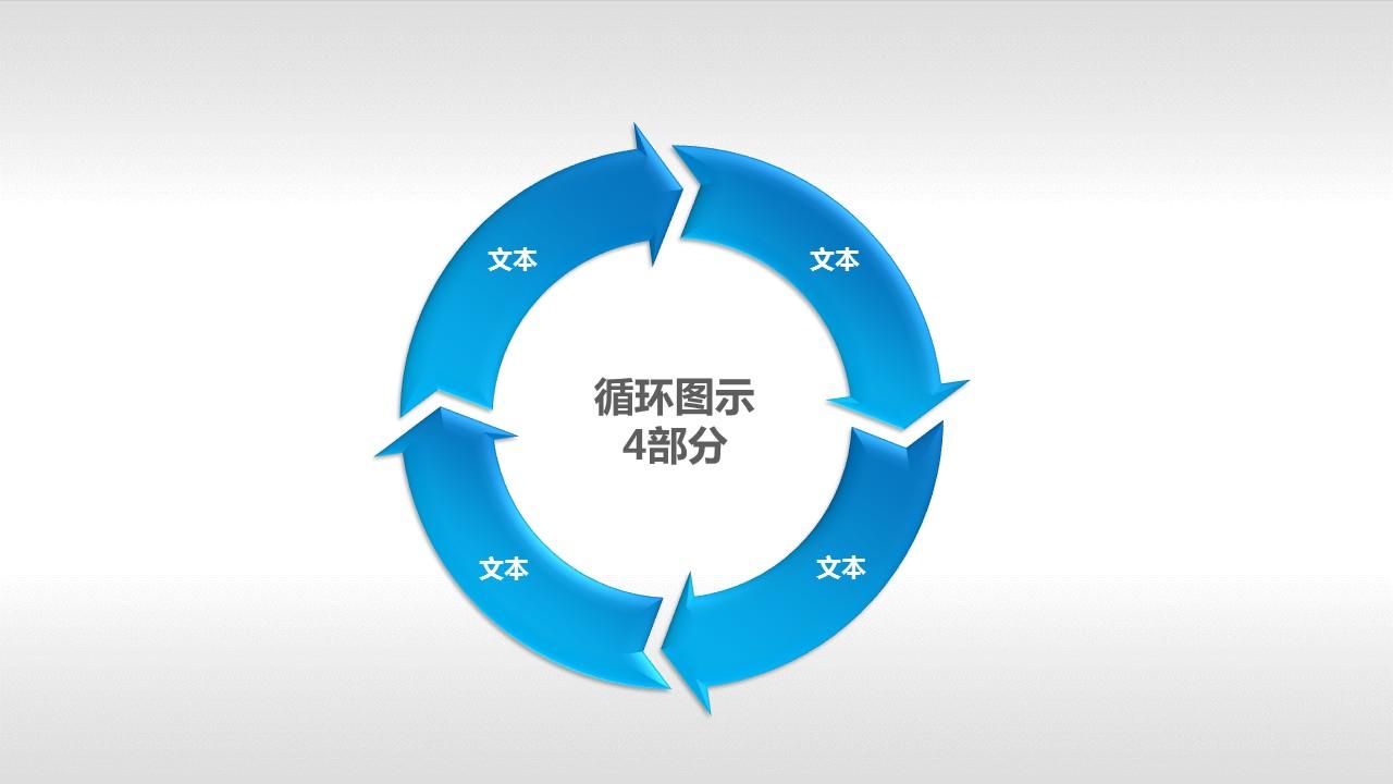 循环图示4部分PPT素材