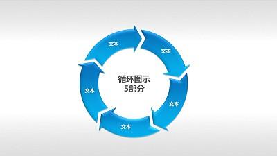 循环图示5部分PPT素材