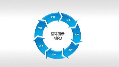 循环图示7部分PPT下载