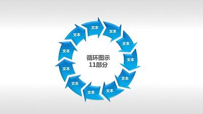 循环图示11部分PPT素材