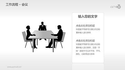 工作流程—会议PPT素材