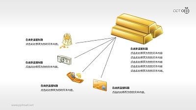财富分配/资金流向的PPT素材