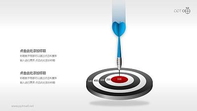 目标市场—飞镖和靶子PPT素材(六)