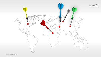 目标市场—全球市场的PPT模板