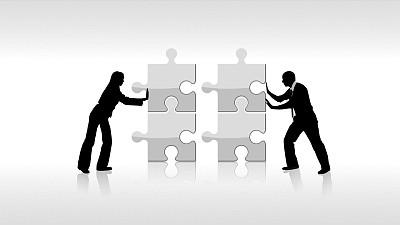 反映双人合作的PPT素材