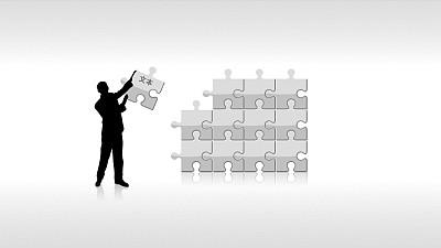 反映独立工作模式的PPT模板
