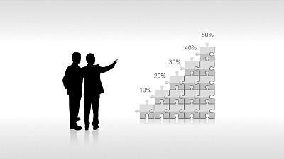 反映业务/效益变化的PPT素材