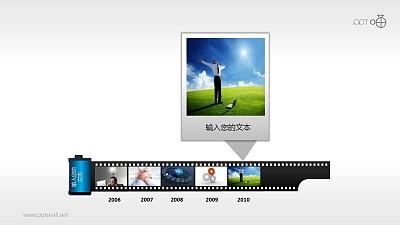 时间轴胶片效果(系列-03)PPT模板下载