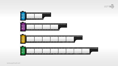 时间轴胶片效果素材(系列-01)PPT模板下载