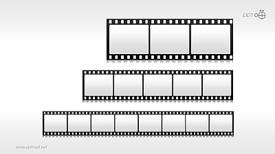 时间轴胶片效果素材(系列-02)PPT模板下载