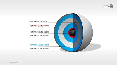 3D立体核心图(系列-14)PPT素材