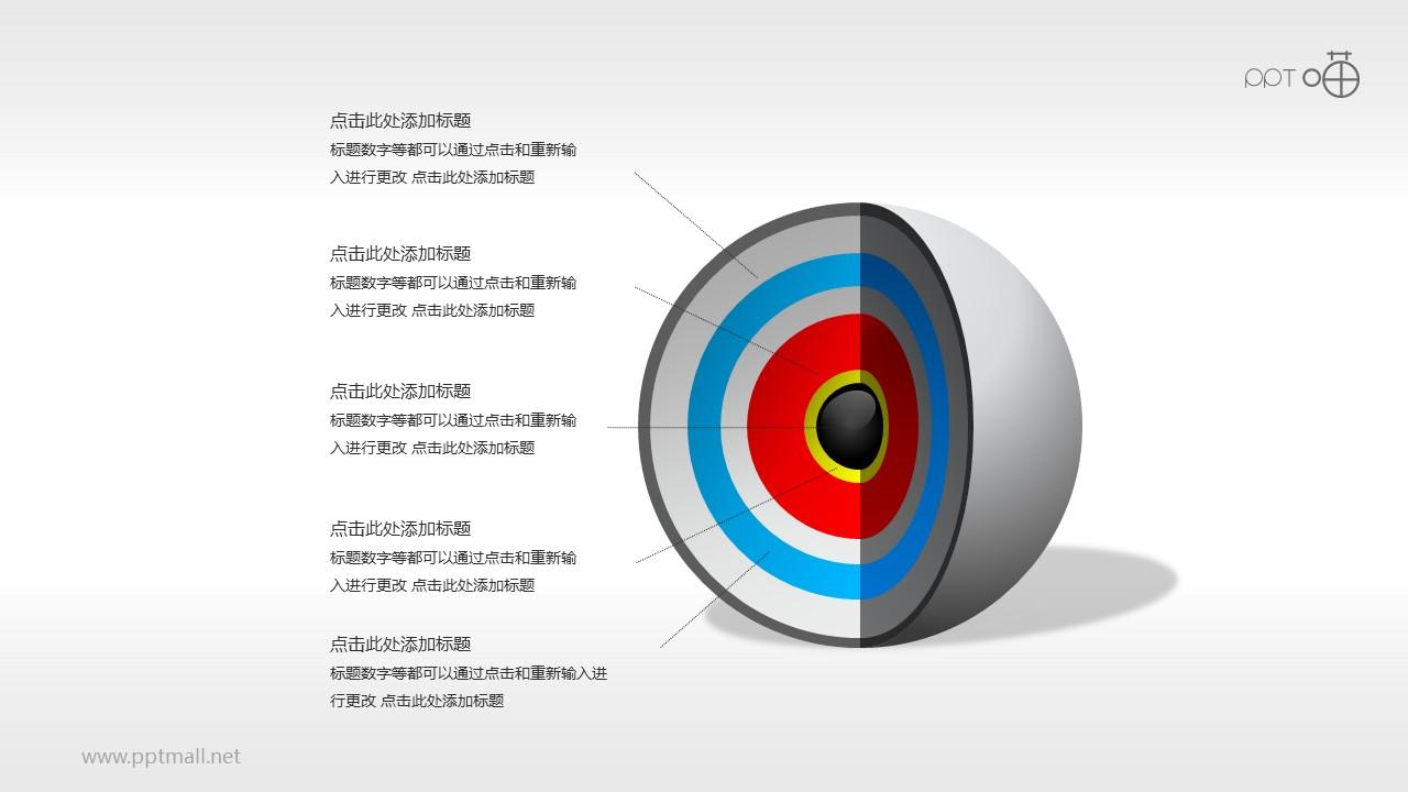 3D立体核心图(系列-15)PPT素材