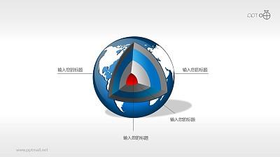 地球结构剖面图(系列-03)PPT素材