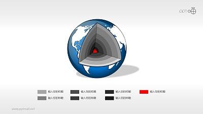 地球结构剖面图(系列-06)PPT素材