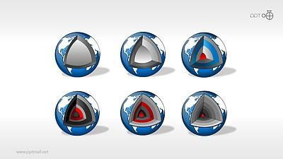 地球结构剖面图素材PPT模板