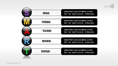 SMART原则(系列-06)PPT模板下载