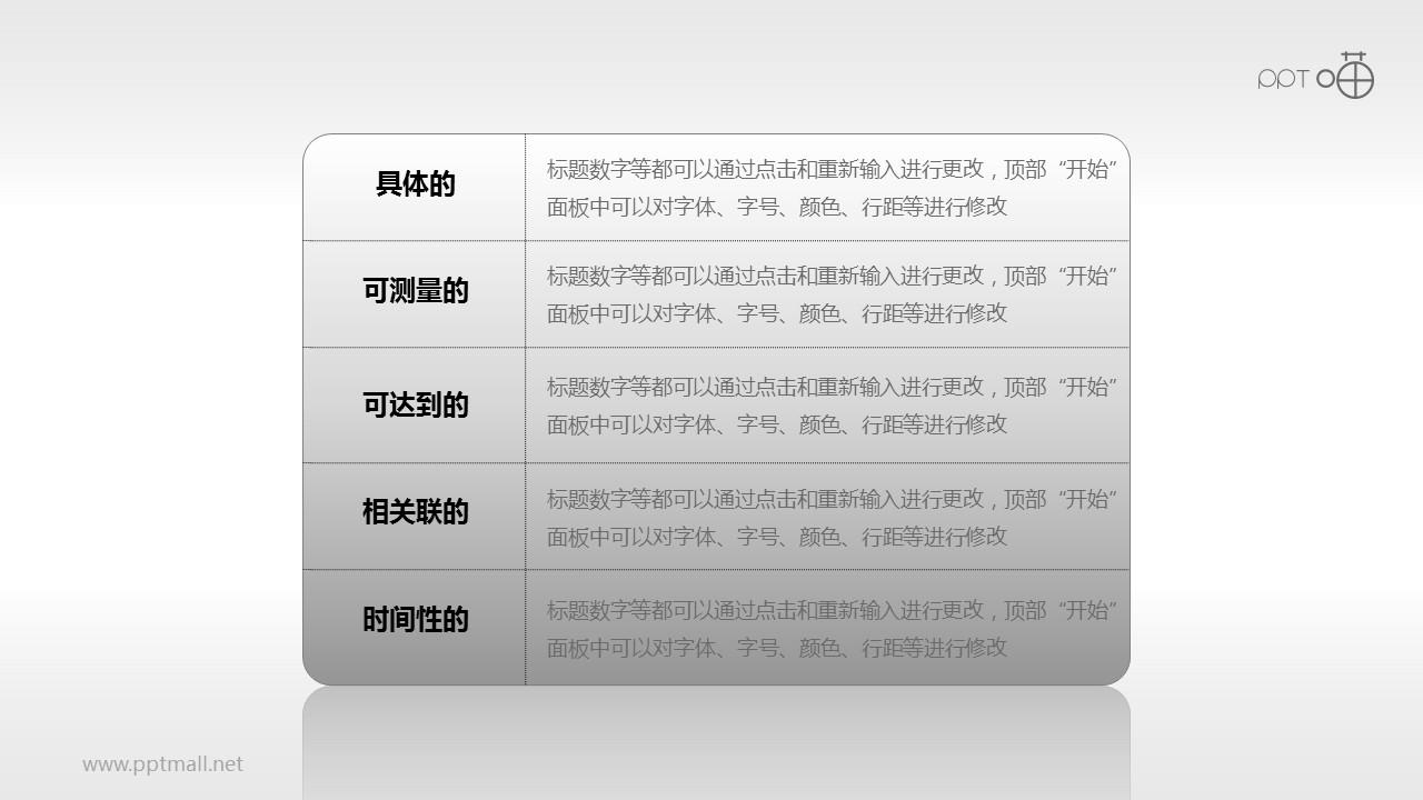 SMART原则(系列-07)PPT模板下载
