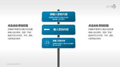 驾考/交通运输PPT素材(05)—3部分的路标PPT素材