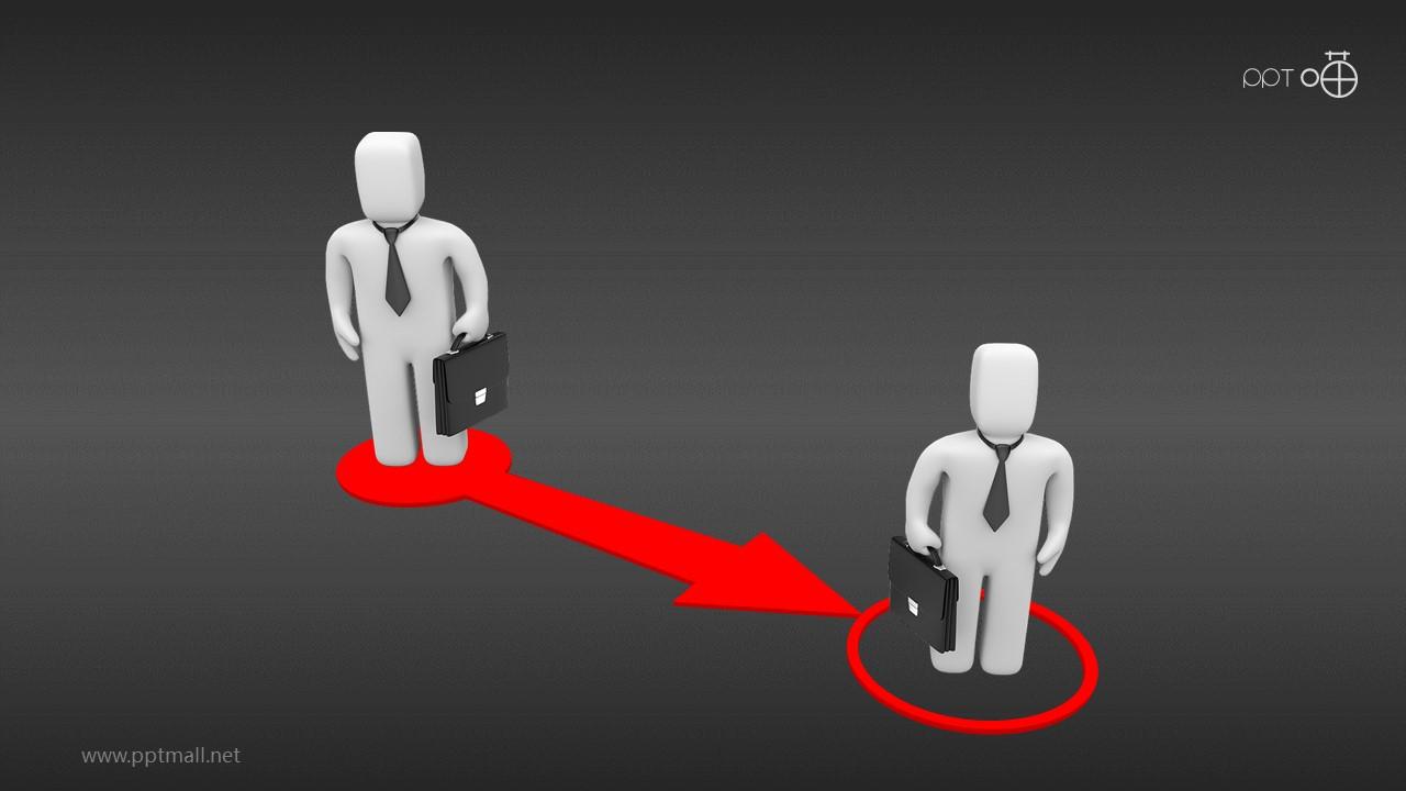 职业变迁3D小人PPT图示素材