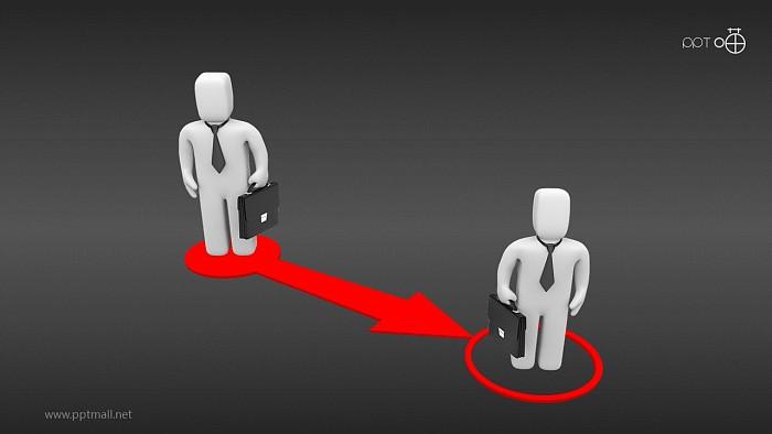 职业变迁3D小人PPT图示素材_幻灯片预览图2