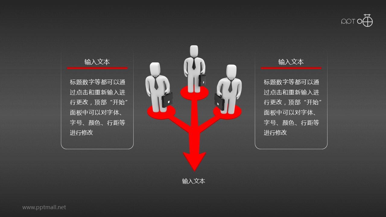 3人一组职业合作示意图PPT