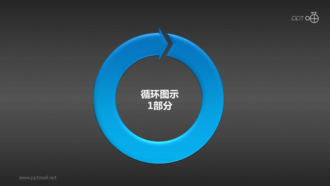 循环图示1部分PPT模板下载