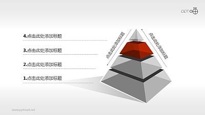 金字塔PPT模板下载[4部分结构]