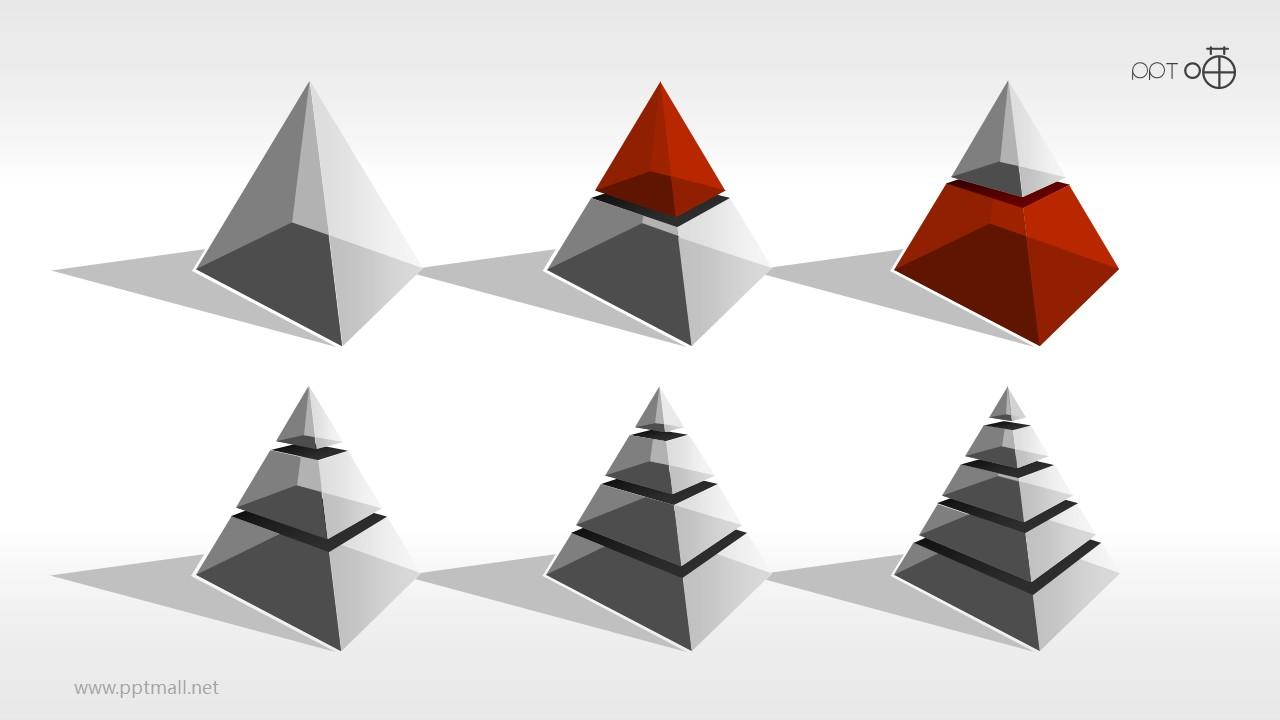 金字塔PPT模板合集[1-5部分下载]