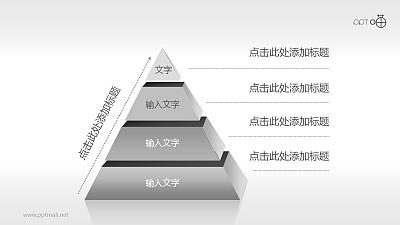 4层结构金字塔PPT模板下载
