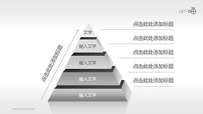 5层结构金字塔PPT模板下载