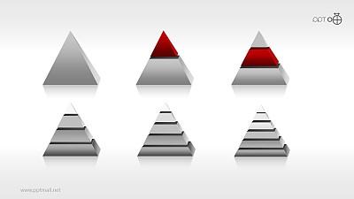 全套金字塔PPT模板下载[1-6层结构合集]