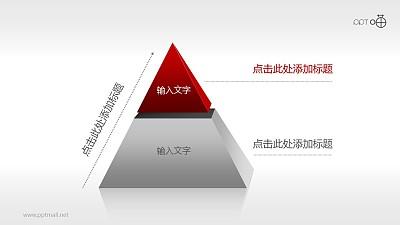 2部分结构金字塔PPT模板下载