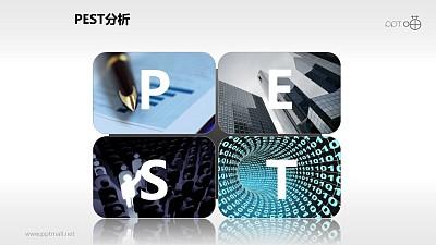 PEST模型(含概念图)PPT模板下载