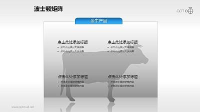 波士顿矩阵——金牛产品文本说明PPT素材
