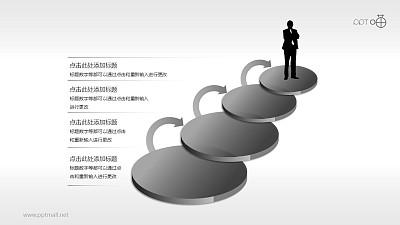 四个依次递进的步骤PPT素材