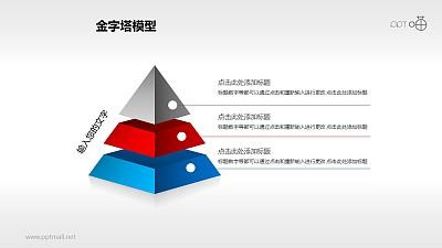 三层悬浮金字塔PPT下载